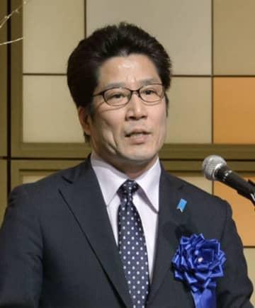 北朝鮮による拉致問題を考える集会で訴える横田拓也さん=13日、高松市