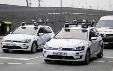 フォルクスワーゲンのレベル4の高度な自動運転車の公道テスト(参考画像)