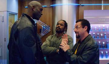 "Kevin Garnett (left) LaKeith Stanfield and Adam Sandler in ""Uncut Gems."" - A24/IMDb/TNS"