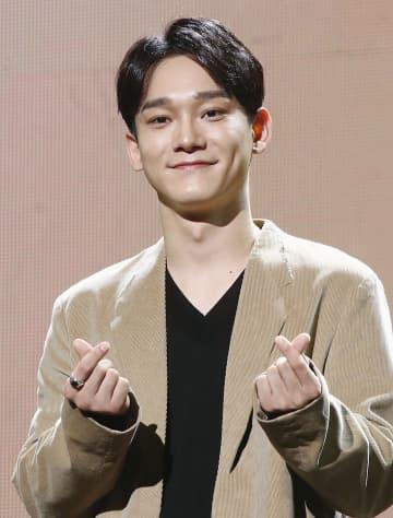 ソウルでのイベントに出席した「EXO」のチェンさん=2019年10月(聯合=共同)