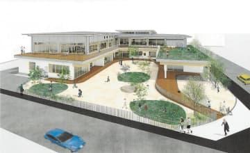 複合型地域拠点施設の完成イメージ図