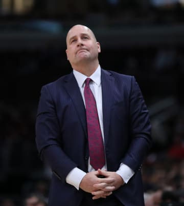 In a file image from Dec. 13, 2019, Chicago Bulls coach Jim Boylen looks on against the Charlotte Hornets at the United Center in Chicago. on Jan. 13, 2019, the Bulls fell the the Celtics 113-101. - Chris Sweda/Chicago Tribune/TNS