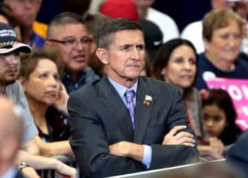 Retired U.S. Army lieutenant general Michael Flynn at a campaign rally for Donald Trump at the Phoenix Convention Center in Phoenix, Arizona. Please attribute to Gage Skidmore if used elsewhere. Date Taken on 29 October 2016, 16:42 Source...