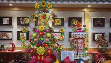 春節ムードを盛り上げる「花饃」 陝西省西安市