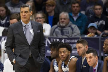 Head coach Jay Wright of the Villanova Wildcats looks on against the Xavier Musketeers in the second half at Finneran Pavilion Monday, Dec. 30, 2019 in Villanova, Pa. - Mitchell Leff/Getty Images North America/TNS