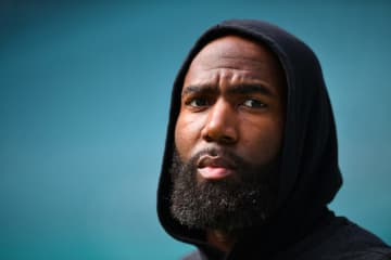 Malcolm Jenkins #27 of the Philadelphia Eagles looks on prior to the game Miami Dolphins at Hard Rock Stadium on Dec. 1, 2019 in Miami, Fla. - Mark Brown/Getty Images North America/TNS