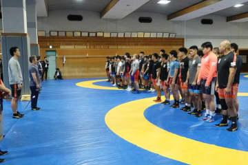 日体大で合宿をスタートした男子グレコローマン全日本チーム