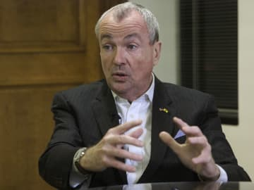 Gov. Phil Murphy speaks during an interview at his office in Trenton last month. (Patti Sapone | NJ Advance Media/)