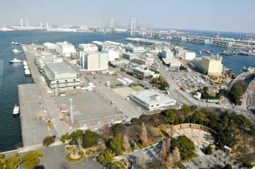 IR施設の誘致先として有力視されている横浜港の山下ふ頭=横浜市中区