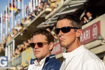 "Matt Damon, left, and Christian Bale in the movie ""Ford v. Ferrari."" - Merrick Morton/20th Century Fox/TNS/TNS"