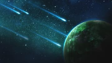 Even if you missed the meteor shower in early January, there will be lots of opportunities to see shooting stars in 2020 — from the Lyrids in April to the Perseids in August and the Geminids in December. (Photo illustration by Yuri B. | Pixabay/)
