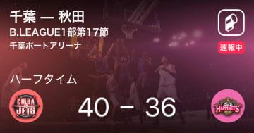 【速報中】千葉vs秋田は、千葉が4点リードで前半を折り返す