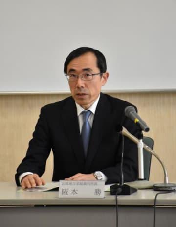 宮崎地裁・家裁所長に就任した阪本勝氏=15日午後、宮崎市・同地裁