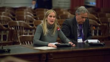 Janna Chernetz of Tri-State Transportation Campaign, testifying recently before a legislative committee. (Brian Branch Price/)