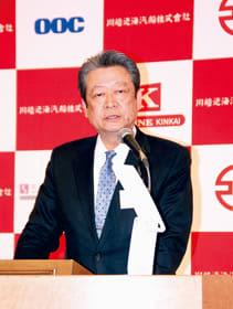 宮蘭航路について「八戸港に寄港を変えて盤石な体制を築く」と述べる赤沼社長
