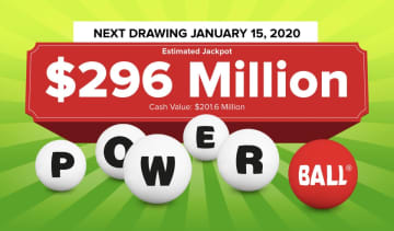 The Powerball lottery drawing for Wednesday, Jan. 15, 2019 is worth an estimated $296 million. Check back later to see if anyone won the Powerball jackpot. (Powerball.com/)