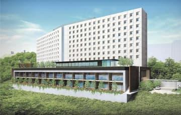 新ホテル「カピリナタワー」の完成予想図