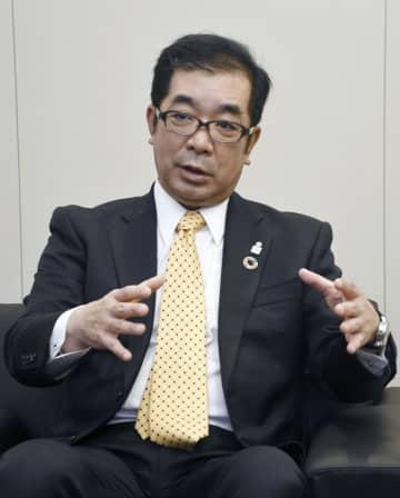 インタビューに答える積水ハウスの仲井嘉浩社長