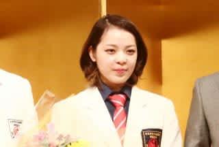 南原は1月12日(日)に都内ホテルにて開かれた世界大会優勝祝賀会に女子王者として出席した