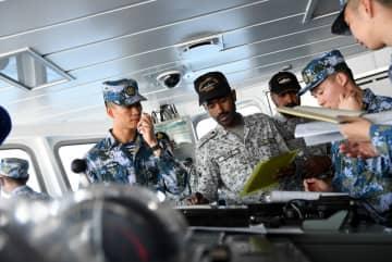 アラビア海北部での中パ海上合同演習が終わる
