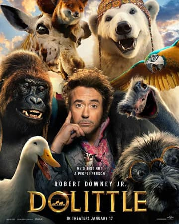 Poster art for 'Dolittle,' starring Robert Downey Jr. and a star-studded cast. - Universal/TNS/TNS