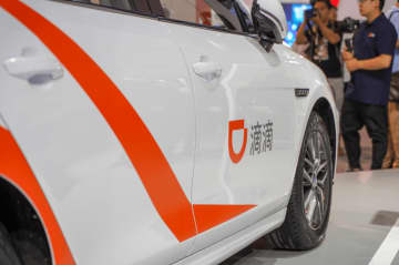 Didi's robo taxi displays at WAIC on August 30, 2019 in Shanghai. (Image credit: TechNode/Shi Jiayi)