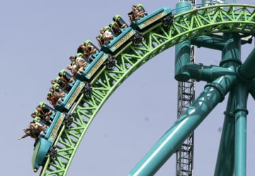 Riders seen on the new Kingda Ka roller coaster at Six Flags Great Adventure in a file photo. (Murray, Noah K./)