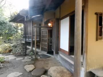 旧松本剛吉別邸にある雨香亭=小田原市南町