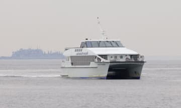A Seastreak ferry, which Bayonne plans to have operating by this fall. (TONY KURDZUK/)