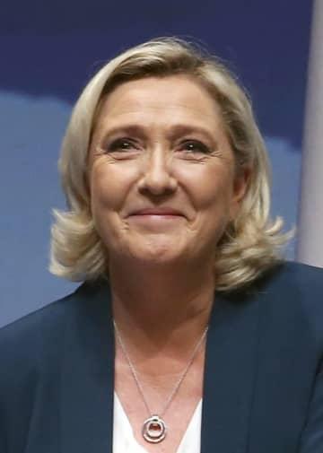 フランスの極右政党、国民連合のマリーヌ・ルペン党首(ゲッティ=共同)