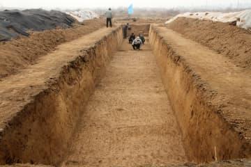秦・漢代の咸陽城に造られた「官道」を発見 陝西省西咸新区