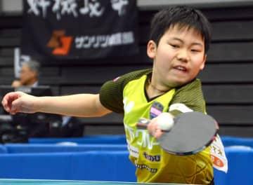 ジュニアの部男子シングルスで準優勝を飾った松島輝空(丸善インテックアリーナ大阪)