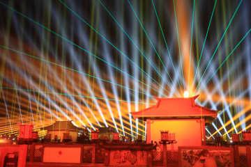 中国西部の伝統行事、千年の歴史ある九曲黄河灯陣 甘粛省張掖市