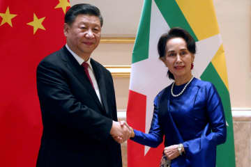 Xi begins 'historic' Myanmar visit