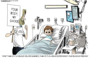 Vaccinate your kids. (Drew Sheneman/)