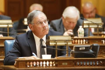 State Assembly Minority Leader Jon Bramnick, R-Union, is pictured at the Statehouse in Trenton. (Aristide Economopoulos/)