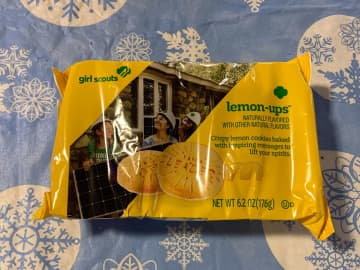 Packaging for the new Girl Scout Cookie flavor, Lemon-Ups. - David J. Neal/Miami Herald/TNS