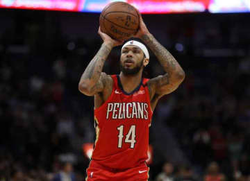 NEW ORLEANS, LOUISIANA - JANUARY 16: Brandon Ingram #14 of the New Orleans Pelicans makes a free throw against the Utah Jazz at Smoothie King Center on January 16, 2020 in New Orleans, Louisiana.