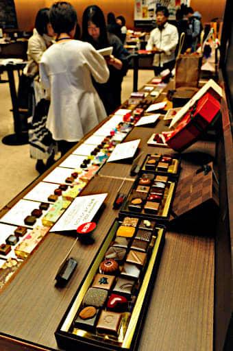 博覧会に登場する個性豊かなチョコレート