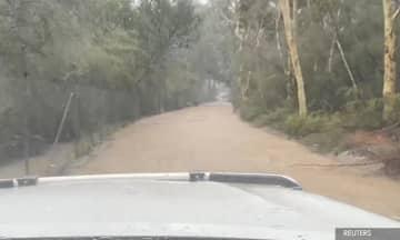 Floods, road closures in Australia as storms lash some bushfire-hit regions