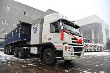 大型電気トラック、陝西省の発電所で運用開始
