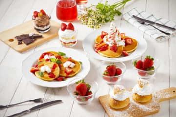 イケアがイチゴ一色になってるよ~! めちゃうまパンケーキいかが?  画像