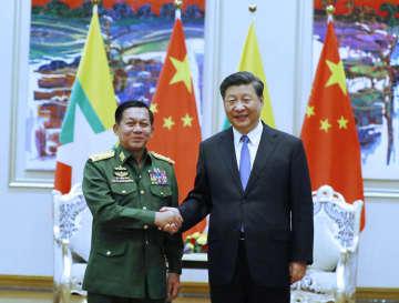 習近平主席、ミャンマー軍最高司令官と会見