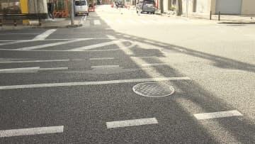 男性が倒れていた相生町の市道交差点