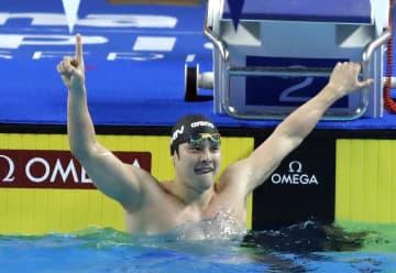 日本の瀬戸大也、男子200M個人メドレーで優勝 競泳CS北京大会
