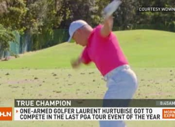 One-Armed Amateur Laurent Hurtubise Sinks Hole-In-One at PGA Tour Event [Video]