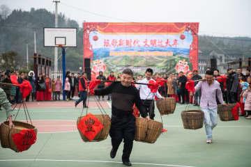 楽しい農民運動会で新年を迎える 湖南省懐化市