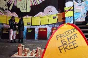 Free Hong Kong Exhibition in Kiev, Ukraine. Photo: Free Hong Kong Exhibition/Facebook.