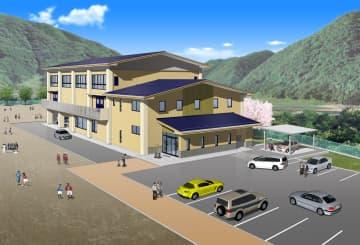 体育館と公民館の複合施設のイメージ(市教委提供)