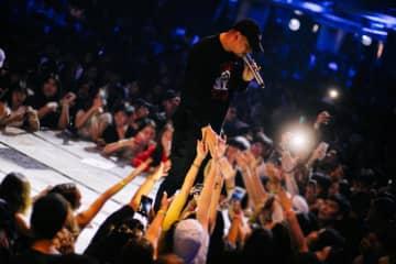 "Rapper Prinya ""DaBoyWay"" Intachai at a hip hop concert in Bangkok, Thailand Nov 14, 2019. (Def Jam Recordings/Universal Music Thailand/Handout via REUTERS)"